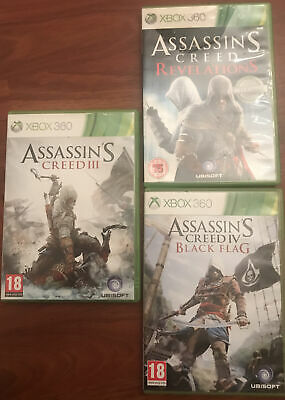 XBOX 360 Assassin's Creed III,revelations,black Flag • 2£