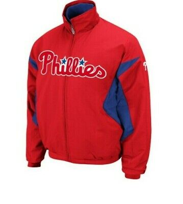 $39.99 • Buy Majestic Authentic Philadelphia Phillies Therma Base Jacket New TALL 2XL $130