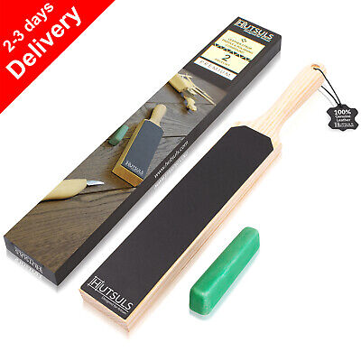 $19.99 • Buy HUTSULS Double Sided Leather Strop Paddle Compound Knife Kit Sharpener Honing