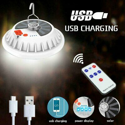 AU20.99 • Buy 120LED Solar Light Camping Lantern BBQ Tent USB Rechargeable Lamp +Remote