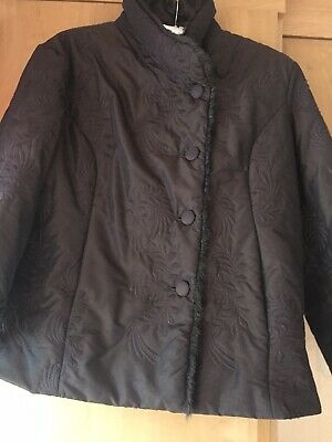 Alex & Co Ladies Short Brown Slightly  Padded Coat Size 18 • 5£
