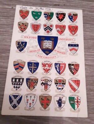 Postcard: Arms Of The Colleges Of Oxford. Used. • 0.60£