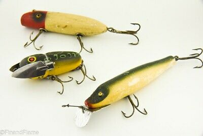 $ CDN8.29 • Buy Vintage South Bend & Heddon Antique Fishing Lure Lot Of 3 WH15