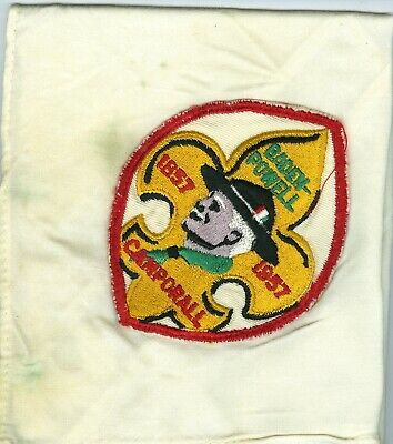 1957 Boy Scout Baden Powell Centennial Neckerchief • 2.91£