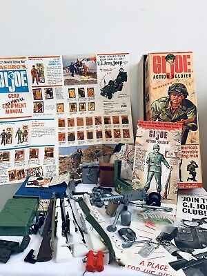 $ CDN122.50 • Buy Hasbro GI Joe ACTION Soldier/marine LOT 1964, 7500 BOX AND ACCESSORIES ONLY