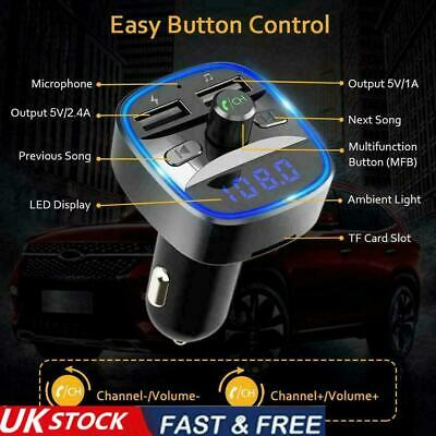 £6.77 • Buy In-Car Bluetooth Hands Free MP3 Player/Phone To Radio Transmitter 2 FM UK