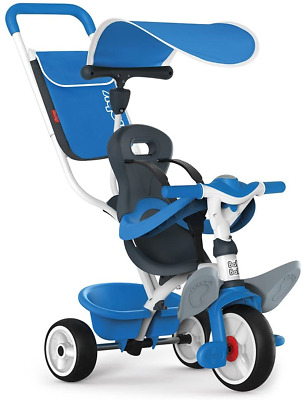 Smoby Push Along Toddler Trike With Headrest, Removable Parent Handle And Safety • 99.66£