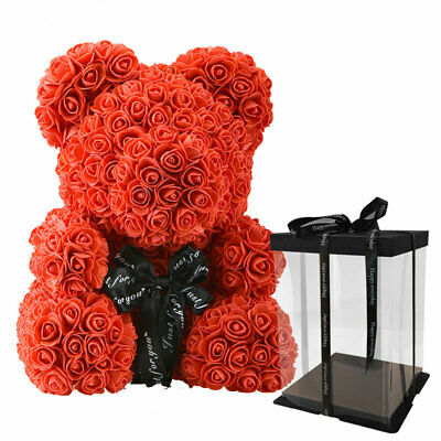 Rose Teddy Bear Valentines Day Gift For Her Heart I Love You Gift Box Large 40cm • 28.99£
