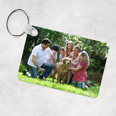 £3.99 • Buy Personalised Photo Keyring, Custom Keychain, Double Sided Print, Any Picture