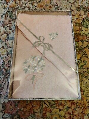 VTG Retro 70s 80s Pink Towel Gift Set Boxed New Hand Face Cloth • 10£