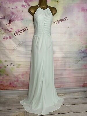 Ted Baker 'corkia' Luxurious Full Length Pale Green Maxi Gown Dress Size 4 Uk 14 • 49.99£