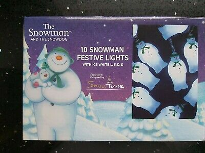Raymond Briggs The Snowman 10 Figurine Led Battery Operated Lights NEW Boxed • 9.50£