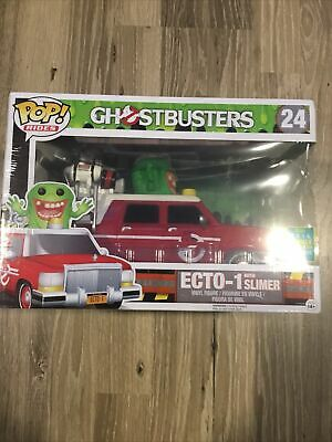 Funko Pop! Ghostbusters Ecto-1 With Slimer Rowan's Ghost FYE GITD #24 #308 • 32.16£