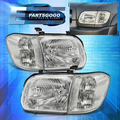 $126.99 • Buy For 05-06 Toyota Tundra / 05-07 Sequoia Clear Headlights + Corner Signal Lamps