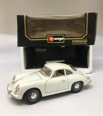 1:18 1962 Porsche 356B Coupe Diecast **FLAWED** By Burago Metal Model Car Boxed • 10.50£