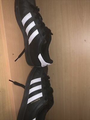 AU34 • Buy Brand New In Box ADIDAS Superstar Black, White & Gold Shoes Size AU 7