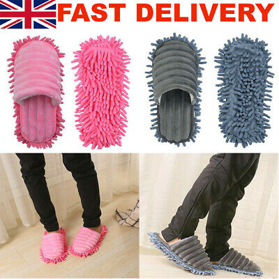 A Pair Of Mop Slippers Lazy Foot Socks Floor Shoes Quick Polishing Cleaning Dust • 9.89£