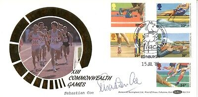 1988 Sports Centenaries First Day Cover BLCS14m CERTIFIED SIGNED SEBASTIAN COE • 9.99£