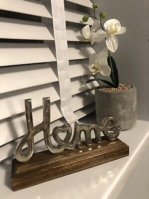 Sculptured Home Ornament On A Wooden Block, Love, Heart, New Home Gift • 10£