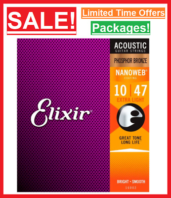 $ CDN21.68 • Buy ✅ New Elixir Acoustic Guitar Strings Set Stainless Steel Electric Guitar Strings