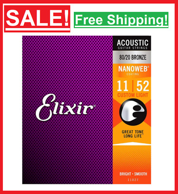 $ CDN21.68 • Buy ✅New Elixir Acoustic Guitar Strings Polyweb Coating 80/20 Bronze Stainless Steel