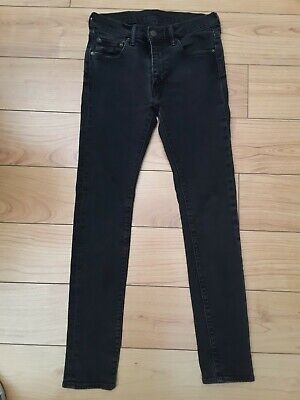Levi 519 Extreme Skinny Stretch Fit Jeans W30 L32 Black  • 31.99£
