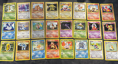 Base Set Complete 17-102. Rare,Uncommon,Common  WOTC Pokemon Card Bundle/Joblot • 51.05£