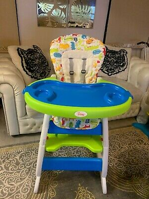 3 In 1 Baby Highchair Infant High Feeding Seat Toddler Table Chair (RRP £63) • 10£