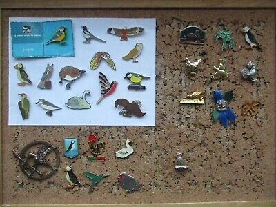 Birds Official Rspb Card Rare Wildlife Owl Eagle Job Lot X31 Bundle Pin Badges • 5.19£