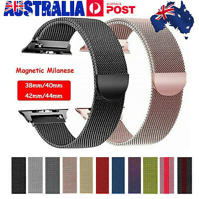 AU9.99 • Buy For Apple Watch 38/40/42/44mm Magnetic Milanese Loop Band Strap IWatch SE 6-1 AU