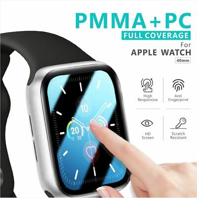 AU4.95 • Buy For Apple Watch IWatch 6 5 4 SE 44 &40 Mm Tempered Glass FULL Screen Protector