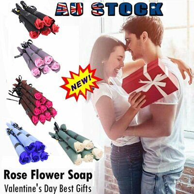 AU11.96 • Buy 1/5/10Pcs Soap Rose Artificial Flower For Girlfriend Valentine's Day Gift Love~N