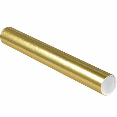 $97.67 • Buy Mailing Tubes With Caps, 3  X 24 , Gold, 24/Case