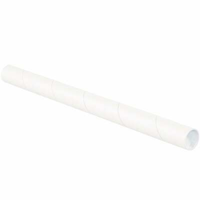 $64.43 • Buy Mailing Tubes With Caps, 1-1/2  X 24 , White, 50/Case