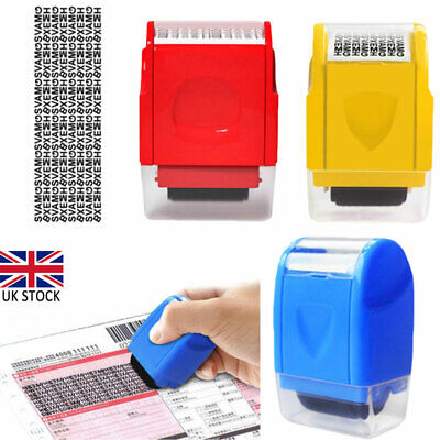 ID Theft Protection Stamp Roller Easy Guard Your Data Privacy Identity Security • 6.20£