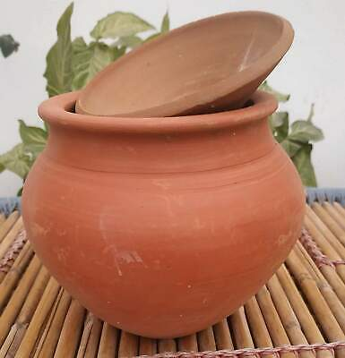 clay pot cooking unglazed Kitchen, Dining & Bar New Clay Pottery Mud Pot Earthen Handi For