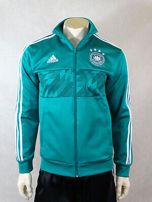 Germany DFB Football Jacket Traning Tracktop Shirt Trikot Jersey Green Adidas M • 44.99£