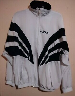 Vintage Adidas Sport White Black Full Zip Track Top Xxxxl 4xl Germany Adolf Ger  • 69.99£