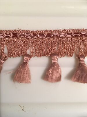Fringe Tassel Trim-Pink 5cm Sewing Crafts Upholstery Lampshade Edging Per Metre • 1.50£
