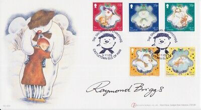 Gb Stamps The Snowman Cover 2003 Signed Legendary Artist Raymond Briggs 820/1000 • 0.99£