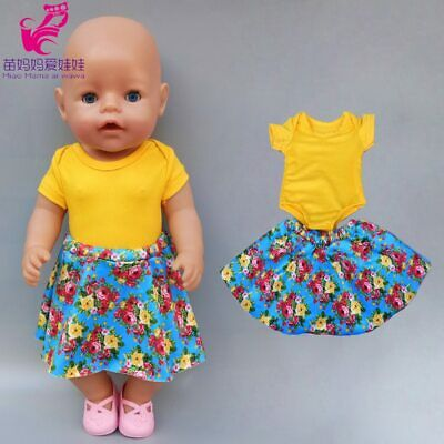 Baby Doll 18 Inch Doll Clothes Toys Wear Doll Dress Spring Fairy Dress For 43cm • 7.99£