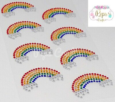 £2.37 • Buy Diamante Rainbow Stickers Crystal Gems - Crafts Card Making Scrapbooking Sparkly
