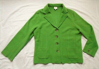 Cardigan By EAST In Felted Wool Stretchy Fabric - Size 18 • 23.99£