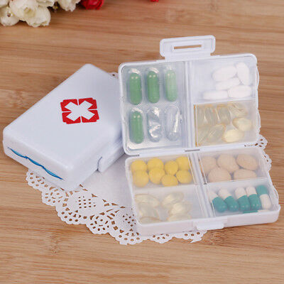 AU9.55 • Buy 7days Foldable Mini Pill Box Container Drug Tablet Storage Travel Case Holder