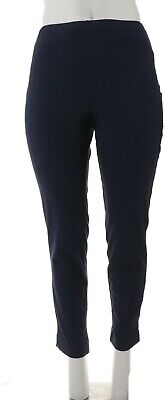$ CDN0.01 • Buy Women With Control Slim Leg Ankle Pants Faux Pockets Navy S # A306480