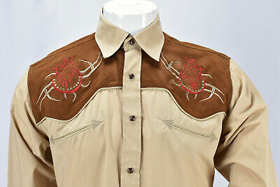 $49.95 • Buy ACE OF DIAMOND Embroidered Western Shirt Size M Horse