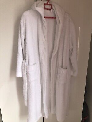 White Soft Touch Dressing Gown Medium • 2.50£