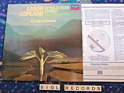 Argo ZRG 935 Copland Appalachian Spring, Music For Movies Howarth LSO • 3£