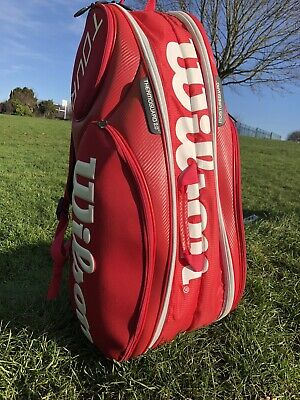 Wilson Tour Red Moulded 2.0 9 Pack Bag • 20£