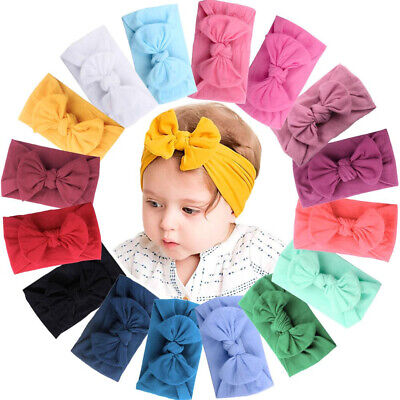 AU3.50 • Buy Baby Girl Toddler New Born Turban Nylon Head Wrap Knot Headband Girl Accessories